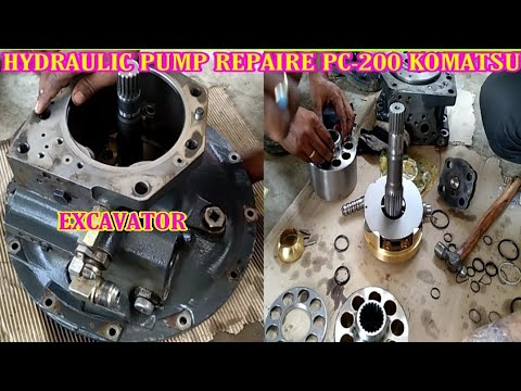 How To Repair Hydraulic Pump Komatsu Pc-200 Excavator,