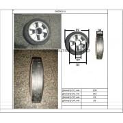 Колесо рулевое гидротележки BF (обрезиненное)